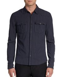 Rogue Woven Striped Sportshirt - Lyst