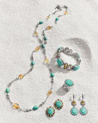 Stephen Dweck - Turquoise & Quartz Link Bracelet - Lyst