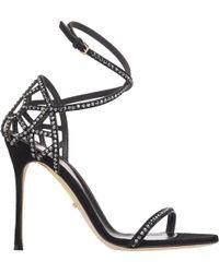 Sergio Rossi - Women's Puzzle Crisscross-strap Sandals - Lyst