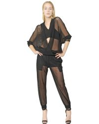 Jay Ahr Techno Fish Net Jumpsuit - Lyst