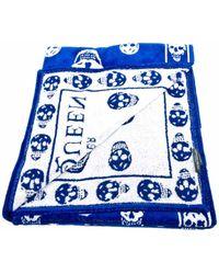 Alexander McQueen Blue Towel - Lyst