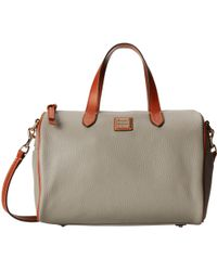 Dooney & Bourke Pebble Olivia Satchel - Lyst