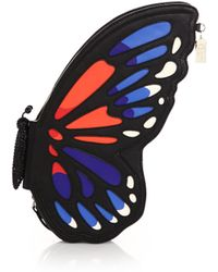 Kate Spade Butterfly Leather Clutch - Lyst