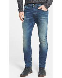 Diesel 'Buster' Slim Straight Leg Jeans (0833F) - Lyst