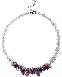 Jacques Vert   Damson Cluster Necklace   Lyst