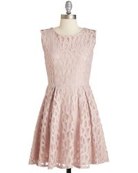 Yellow Star Awe The Right Moves Dress pink - Lyst