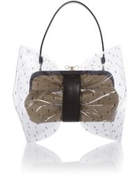 RED Valentino Transparent Neutral Bow Grab Bag - Lyst