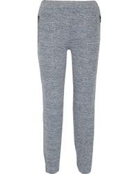J Brand - Susan Linen-blend Track Trousers - Lyst