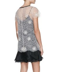 ERIN Erin Fetherston - 3-D Blossom Lace Popover Top Cocktail Dress - Lyst