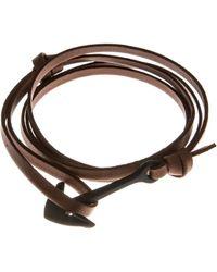 Miansai | Anchor Leather Bracelet | Lyst