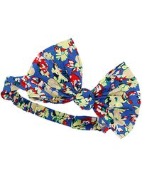 Topshop Blue Floral Big Bow Headband - Lyst