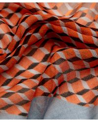 Pierre Hardy - Red Cube Print Cashmere-blend Scarf - Lyst