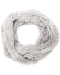 H Brand - Rabbit Fur Snood - Lyst