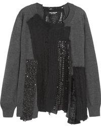 Junya Watanabe Patchwork Woolblend Sweater - Lyst