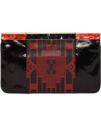 Alexander McQueen Patchwork Hexagon Frame Clutch Bag - Lyst