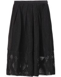 Tibi Embroidered Wool-blend Skirt - Lyst