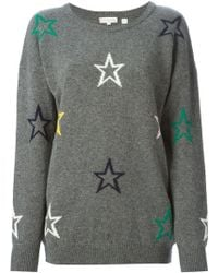 Chinti & Parker Intarsia Star Sweater - Lyst