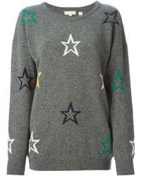 Chinti & Parker Intarsia Star Sweater - Lyst