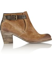 NDC Emelita Washed-Suede Ankle Boots - Lyst