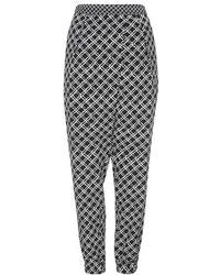 Topshop Square Grid Print Joggers - Lyst