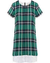 Sea Plaid Shirt Dress  - Lyst