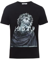 Givenchy - Cuban-fit 1952 Jesus-print T-shirt - Lyst
