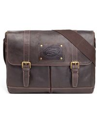 Jack Mason Brand | 'gridiron - Auburn Tigers' Leather Messenger Bag | Lyst