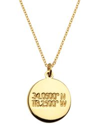 Coordinates Collection - 22k Gold-plated Cove Pendant Necklace - Lyst