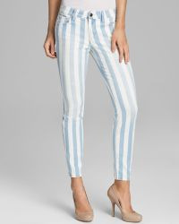 Joe's Jeans Striped Skinny Ankle in Baby Blues - Lyst
