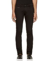 Diesel Black Chi_Shaped Trousers - Lyst