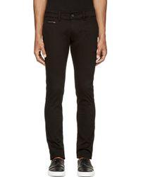 Diesel Black Chi_Shaped Trousers black - Lyst