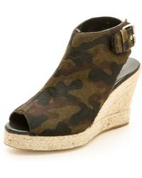 Elysewalker Los Angeles Lesley Espadrille Wedge Sandals Camouflage - Lyst