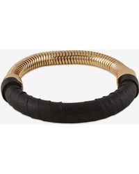 French Connection Wrapped Snake Chain Bracelet black - Lyst