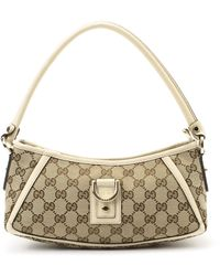 Gucci Beige Canvas Shoulder Bag beige - Lyst