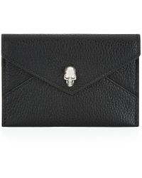Alexander McQueen Skull Envelope Card Holder - Lyst