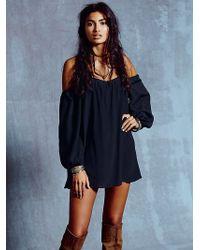 Free People Black Marrakesh Dress - Lyst