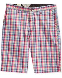 Volcom Modernfit Frickin Mini Checked Chino Shorts - Lyst