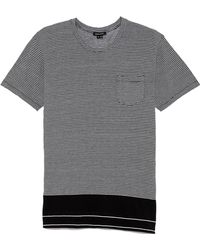 Surface To Air Uneven Stripe Dustin Tee - Lyst