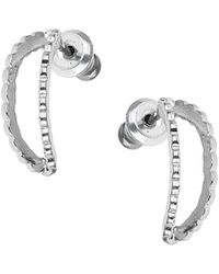 Topshop Curved Open Hoop Earrings - Lyst