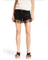 DL1961 Ivy Fringe Shorts black - Lyst