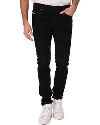 Diesel Tepphar Slim Fit Black Jeans - Lyst
