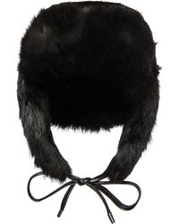 Eugenia Kim Owen Hat with Fur - Lyst