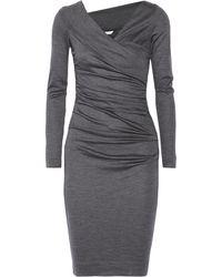 Diane Von Furstenberg Bentley Ruched Wooljersey Dress - Lyst