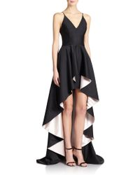 Nha Khanh Taelyn Bicolor V-Neck Gown - Lyst
