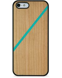 Blissfulcase - Wood Case Line Color Block Mint For Iphone 5/5s - Lyst