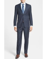 Hickey Freeman Men'S Big & Tall 'Beacon' Classic Fit Check Wool Suit - Lyst