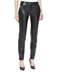 J. Mendel Straightleg Slim Leather Pants - Lyst