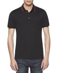 Gucci Cotton-Jersey Polo Tee - Lyst