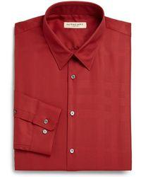 Burberry London Tonal Check Dress Shirt - Lyst