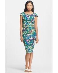Tracy Reese Print Stretch Silk Sheath Dress - Lyst